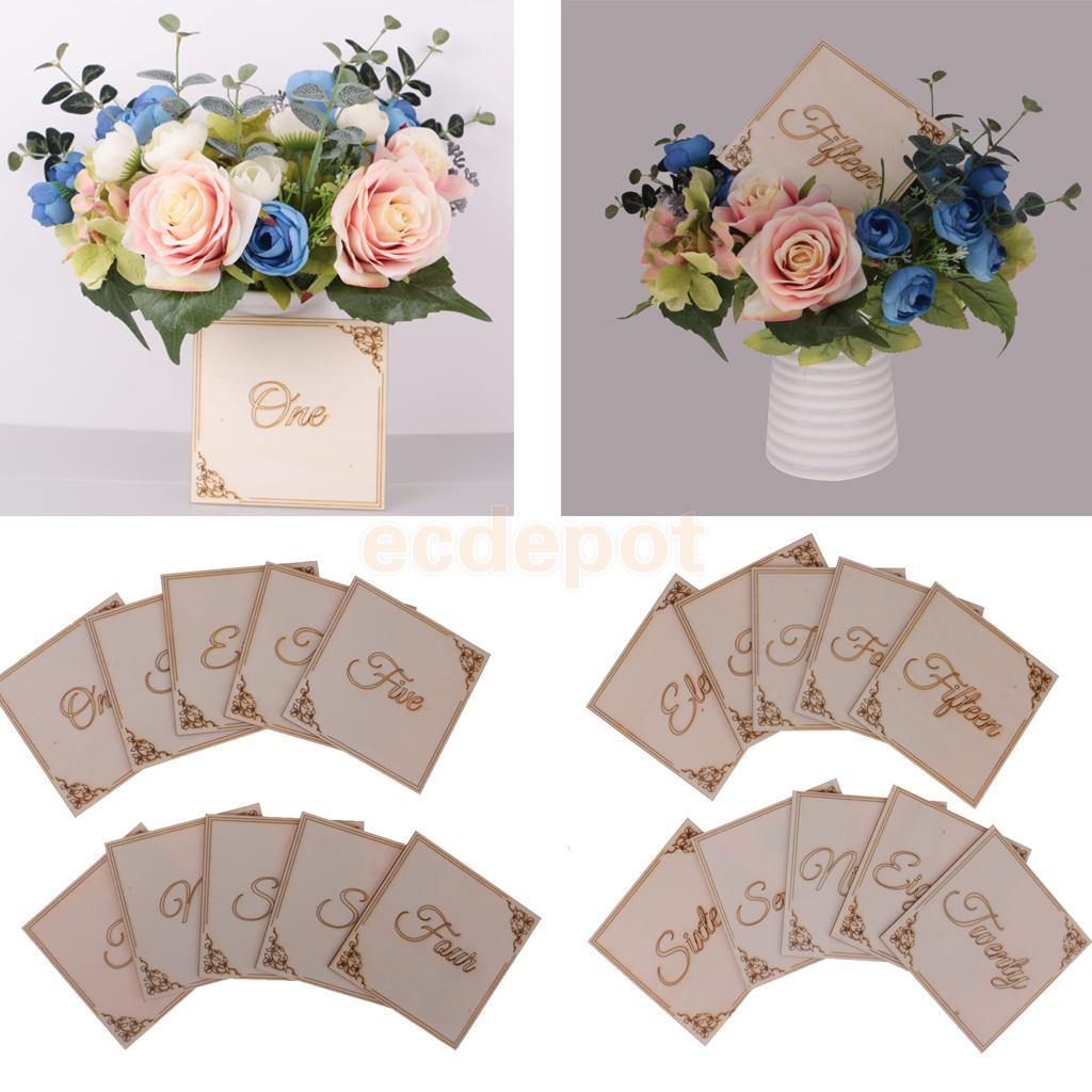10pcs/ Set Wooden Table Number Signs Wedding Centerpiece Decoration