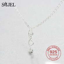 SMJEL Science Jewelry Felix DNA Necklace Biology Jewelry Molecule Necklace Brand 925 Sterling Silver Accessories for Women(China)