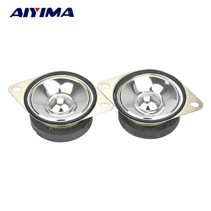 AIYIMA 2Pcs Two Inch Tweeter Audio Speakers 4Ohm 5W Treble White Rim Cap Cone Speaker