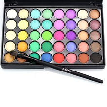2017 Lady Eye Shadow Pallete 40 Warna Bumi Matte Pigmen Palette Makeup Eye Shadow