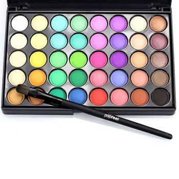 POPFEEL 40 Farben Gliltter Lidschatten-palette Matte Lidschatten Pallete Schimmer und Glanz Nude Make Up Palette Set Kit Kosmetische