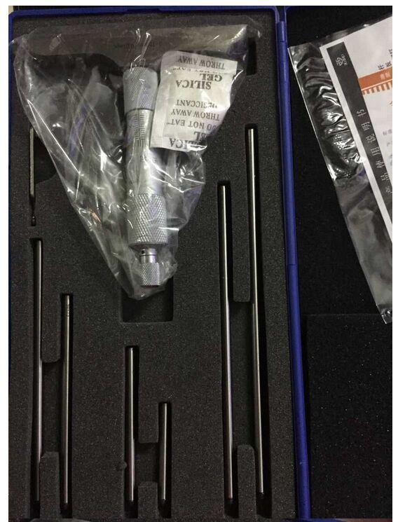 0-150 мм/0.01 глубина микрометр Caplier Mikrometer микрометрический винт, манометр с 6 стержней внутреннего микрометра нержавеющая сталь