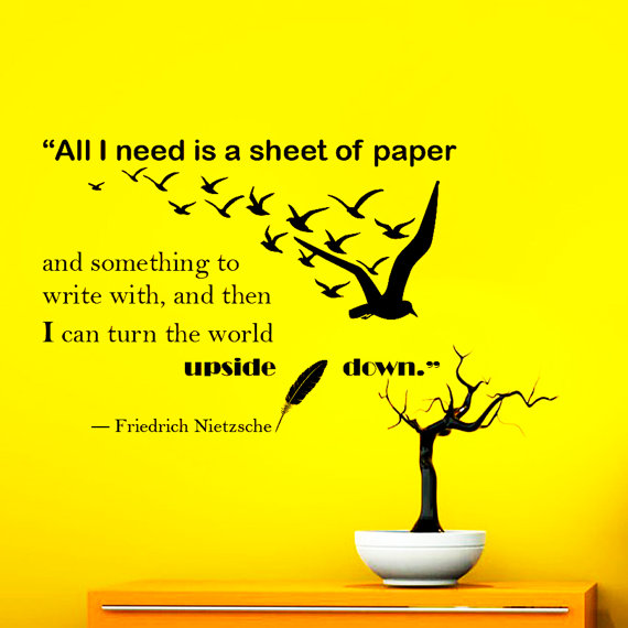Famous Friedrich Nietzsche Quotes Wall Sticker With Sea