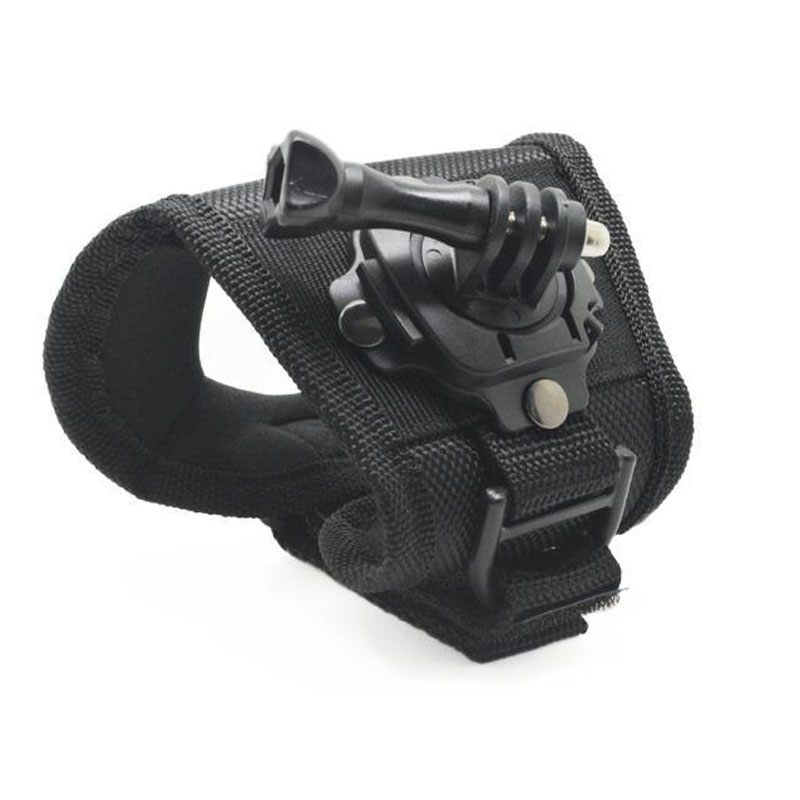 360-Degree Rotation HQS Glove type Wrist Strap Band Mount For GoPro Hero 5 4 3+ 2 SJCAM SJ4000 SJ5000 SJ5000X M10 Xiaomi Yi Cam ...
