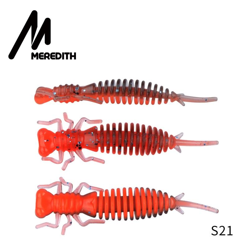 Мягкие приманки MEREDITH Larva, 50 мм, 62 мм, 85 мм, искусственные приманки, силиконовая приманка для ловли червя, приманка для ловли щуки, гольян, плавающая приманка, пластиковые приманки - Цвет: S21