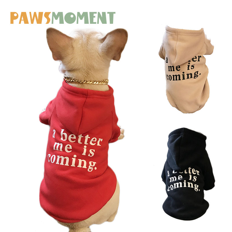 2018 New Style Dog Hoodies For French Bulldog Spring Dog Clothes For Small Dogs Chihuahua Outfit Fleeces Letter Printing Sweater