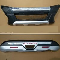 Car styling ABS Chrome Front+Rear bumper cover trim Car styling for 2014 Suzuki S CROSS