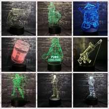 LED Night light Game Battle Gun lamp PUBG TPS SCAR-L Rifle Reaper Scar Rocket Light 7 Color Change Kid Christmas Boy Gift Toy(China)