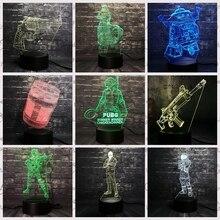 Светодио дный светодиодный ночник игра боевой пистолет лампа PUBG TPS SCAR-L Rifle Reaper Scar Rocket light 7 цветов Изменение Детский Рождественский мальчик подарочная игрушка