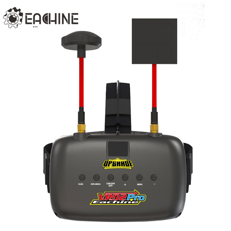 New Eachine VR D2 Pro Upgraded Open Source 5 Inches 800*480 40CH 5.8G Diversity FPV Goggles w/ DVR Lens Adjustable FPV Goggles hj hd 5 8g 7 inches 1280 800 40ch raceband hdmi fpv goggles
