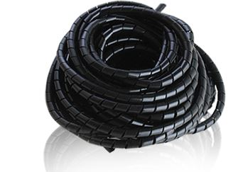 4mm 20M Spiral Cable Wire Wrap Tube Wind Harness Protection Belt Computer Manage Cord Black Color black wire spiral wrap sleeving band tube cable protector cable sleeve black wire protection spiral cable sleeve od 4 6 8 10 12