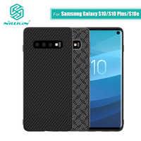 Nillkin Sintetica fibra di Carbonio PP di Plastica Della Copertura Posteriore per Samsung Galaxy S10 Caso 5.8 ''sottile per la Galassia S10 Più /S10e caso 6.1