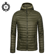 2016 COUTUDI Short Winter Down Coats And Jackets Men's Brand Clothing Army Green Thin Waterproof Coat For Man High Quality Coats