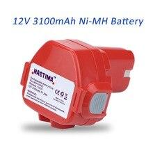 12 V 3100 mAh Ni-MH NASTIMA Rozszerzona Wymiana Baterii do Makita 1233/1234/1235/1235B/1235F/192696-2 Cordless Power Tool (Czerwony)