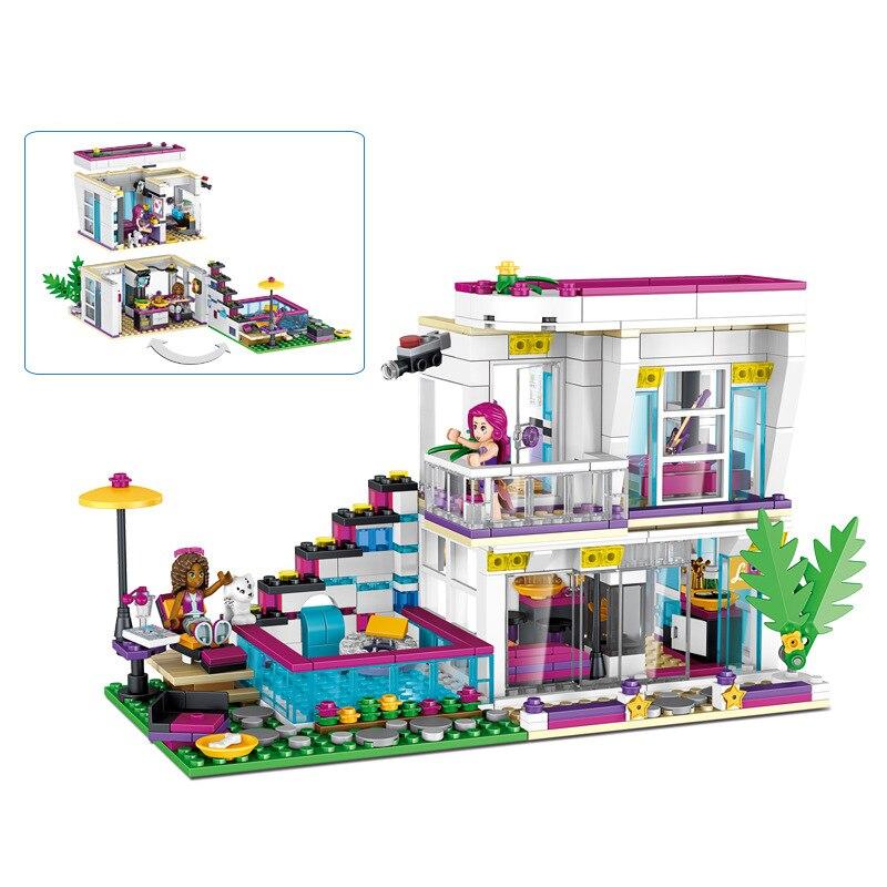 620PCS Liwei Villa Model Building Kits Compatible friends city girls DIY figures Bricks Educational Toys for
