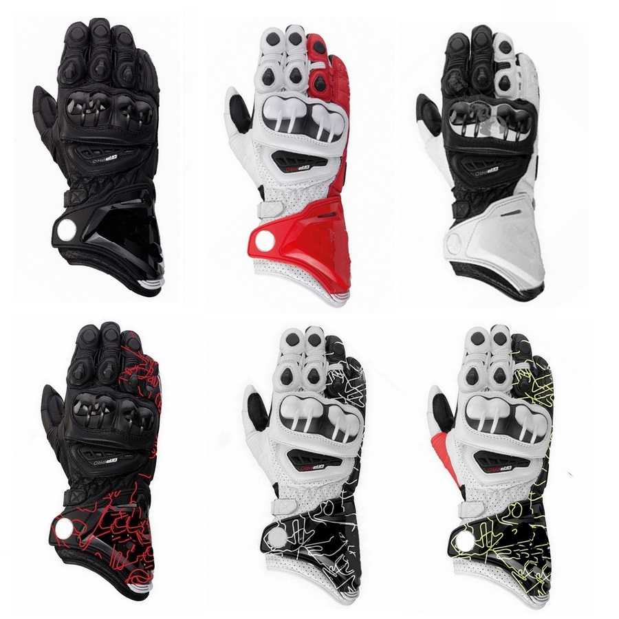 New 8 Colors 100 Genuine Leather GP PRO Motorcycle Long Gloves Racing Gloves Driving Original GP