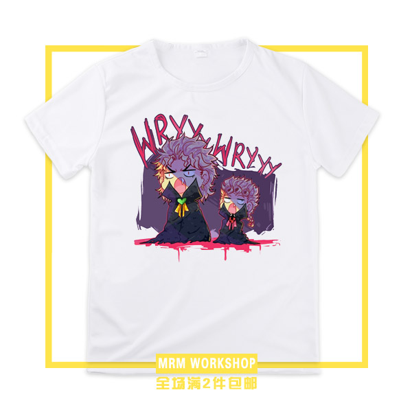 [STOCK] 2018 Anime JoJos Bizarre Adventure 100% Catton T-shirt Cosplay Custume Unisex S-3XL For Halloween Free Shipping Cheap.