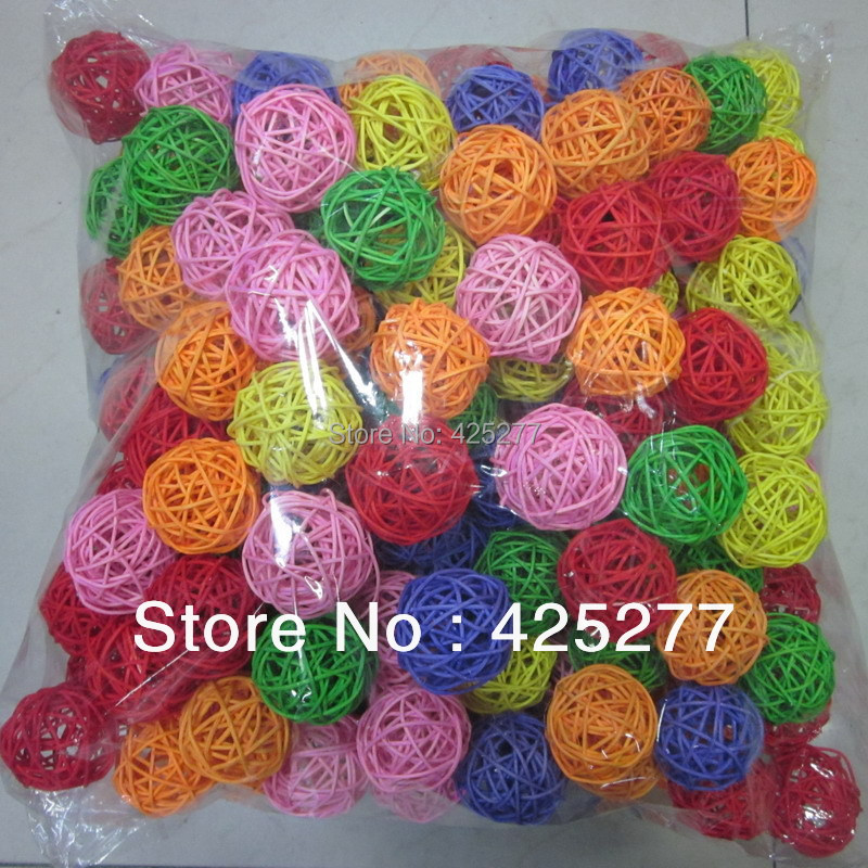 Ball Ornaments Analytical 100pcs Christmas Tree Decorative Rattan Ball,wedding And Home Ornament Craft Ball 2.5 Cm Free Shipping 014024001