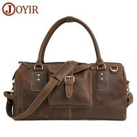 JOYIR Luxury Brand 100% Genuine Leather Men Travel Bags Luggage Travel Men Handbag Leather Men Shoulder Bag Large Tote