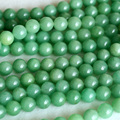 "AAA Natural Genuine Imperial Green Aventurine Jade Round Loose 4-12mm Beads Fit Jewelry DIY Necklaces or Bracelets 15"" 04133"