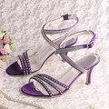 Wedopus Verão Gladiador Sandálias de Verão para o Casamento de Cetim Branco Salto Médio Tamanho 7