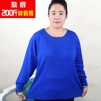 200 Spring And Autumn Plus Size Plus Size Sweater Quinquagenarian Mother Clothing Spring Sweater Pullover Female
