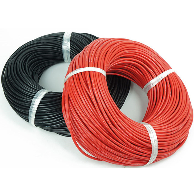YEAHDRONE 10 Gauge 1meter Red+1meter 2m/lot 10AWG Silicone wire ...