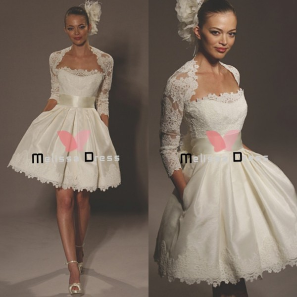 Wholesale Custom Made Ball Gown Knee Length Lace Mini