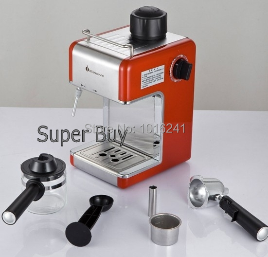 making coffee with espresso machine