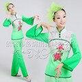 Antiguo Traje Tradicional Chino Abanico Chino de las mujeres Traje de la Danza de Las Mujeres Tradicionales Chinas Traje Trajes De Danza Folclórica