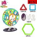 46 pcs tamanho mini roda gigante enlighten bricks educacional brinquedo designer praça triângulo diy blocos de construção magnético