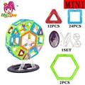 46 unids tamaño mini noria enlighten bricks educativos magnética juguete de diseño cuadrado triángulo diy bloques de construcción