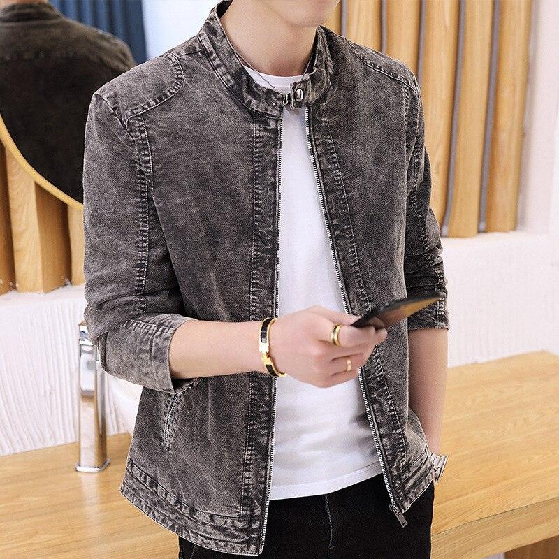 Hommes de Coton Casual Veste Hommes de 2018 Printemps et Automne Auto-culture Col montant Manteau Veste Hommes Streetwear vêtements pour hommes