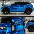 Автомобильный стиль  высокая растягивающаяся Водонепроницаемая УФ-защита  синий хром  зеркальная виниловая пленка  рулонная пленка  автомо...