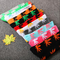 2018 Women Maple Leaf Socks High Quality Cotton Long Cocks Fashion Socks 40 Pairs Set