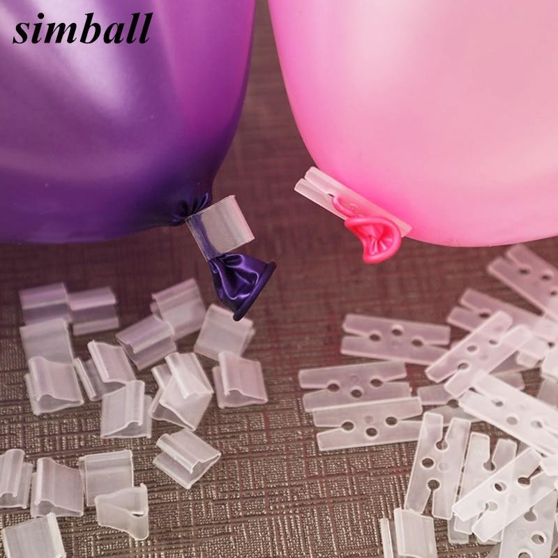 100 шт./лот полезный зажим для воздушных шаров в форме «V» и «H», зажимы для пуговиц для воздушных шаров, товары для украшения свадьбы/дня рожде...