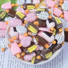 10Pcs/Lot Popsicle Ice cream Polymer Slime Charms Modeling Clay DIY Accesorios Box Toy For Children Supplies Filler