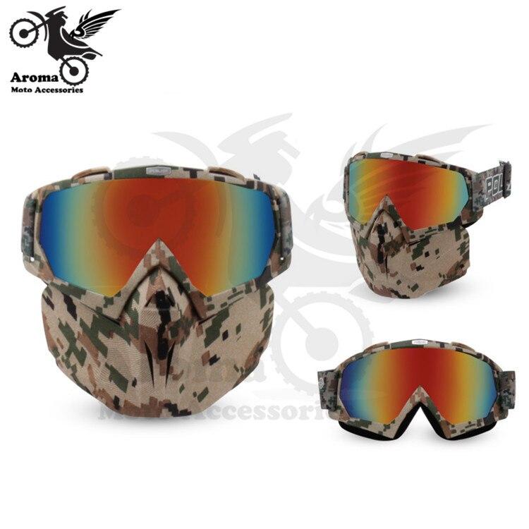Coloré clair lentille moto rbike protection des yeux moto universelle dirt pit vélo tout-terrain course moto rcycle lunettes moto cross goggle - 5