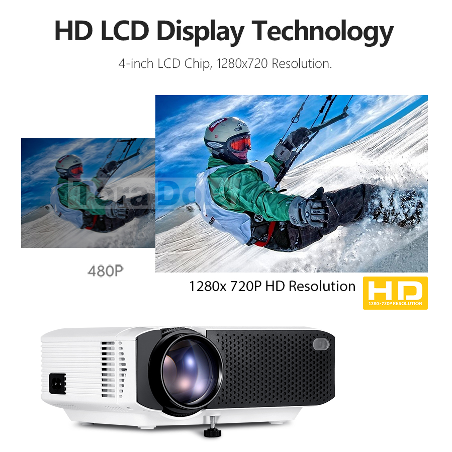 tora dola android 7.1os mini hd led projector for home cinema with 1280×720 resolution 1080p beamer