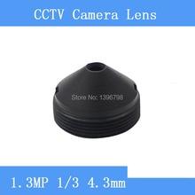 Infrared surveillance camera HP 1.3MP pinhole lens 4.3mm M12 thread CCTV lens