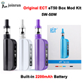 ECT box mod electronic cigarettes eT 50 Kit 50W E cig 2.5ml mini fog airflow control 2200mah atomizer e cigarette et50 kit