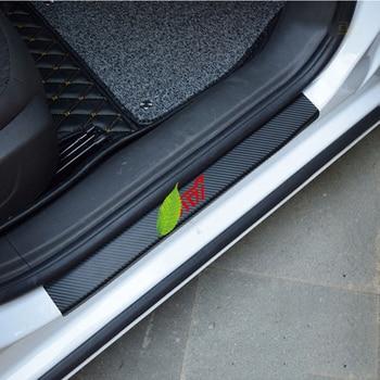For SUBARU LEGACY Forester Rally WRX XV Impreza Door Stickers Carbon Fiber Car Scuff Plate sticker STI Vinyl Decal sticker sticker