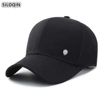 8615af8a28cb SILOQIN los hombres adultos de gorra de béisbol de algodón tamaño ajustable  de las mujeres de cola ...