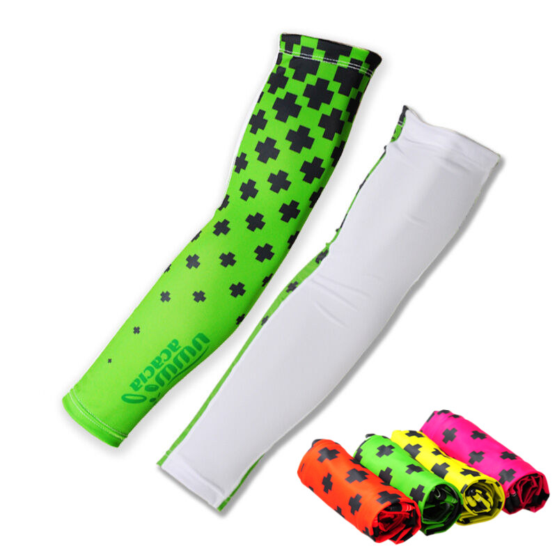 ACACIA Arm WarmersCooling Print Lycra Arm Sleeves Sun Protective UV Cover Sports Golf Fishing Cycling Arm Covers Armers 4 Colors