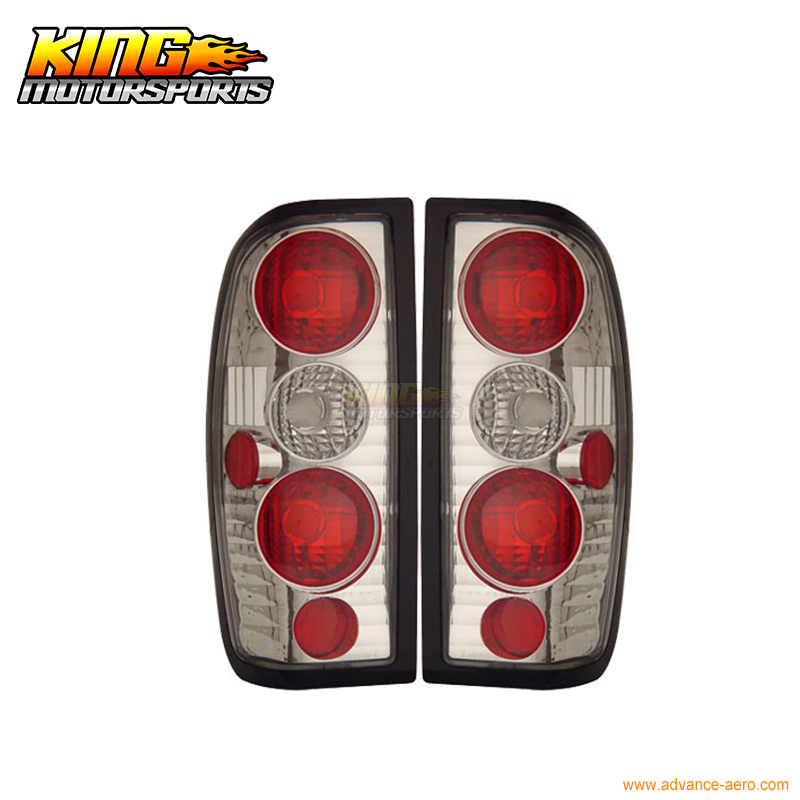 For 1998-2004 Nissan Frontier Euro Chrome Clear Altezza Tail Lights Rear Brake Lamps USA Domestic Free Shipping for 97 98 99 nissan maxima 4 pcs tail lights red clear usa domestic free shipping