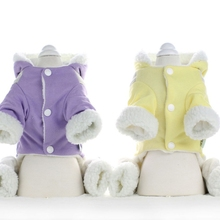 Cotton Warm Dog Pajamas Jumpsuit Clothes Pyjama Small Pet Clothing Perro Four-legged Products Y