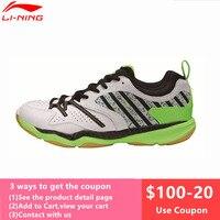 Original New Li Ning Men's Badminton Shoes Breathable Athletic Sneaker Anti Slippery Sports Shoe Li Ning Genuine AYTM081 L719OLB
