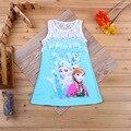 Niños Frozen vestido para niñas ropa infantil azul bebé de la princesa Elegante Vestido Del Desfile Infantil Tul Fiesta Formal ropa 2-4 año