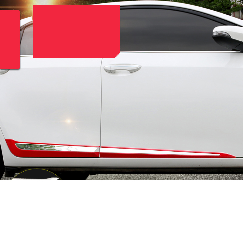car styling car body trims for toyota corolla 2013 2014 2015 2016 2017 2018 E170 cool color gradient car body garland car waistline styling sticker for toyota corolla avensis and so on