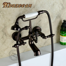 Фурукава классическая европейские ретро к стене висит античная медь ванной кран душ, целая темно-коричневый бронза